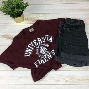 University of Florence Vintage Retro Tee T-Shirt M